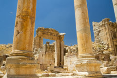 Руины, Jerash, Джордан Стоковая Фотография RF
