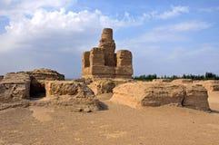 Руины Jiaohe Стоковая Фотография RF