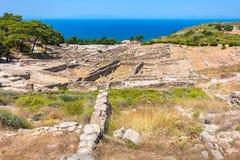 Руины Kamiros Родос, Греция Стоковое фото RF