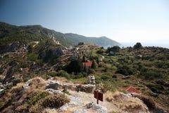 Руины Kastro, Skiathos стоковые изображения