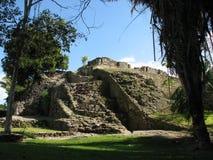 руины kohunlich майяские Стоковое Изображение