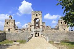 Руины Krzyztopor, дворца Ossolinski, Ujzad в Польше Стоковые Фотографии RF