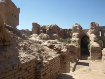 Руины Kyr Kyz около Termiz Стоковые Изображения RF
