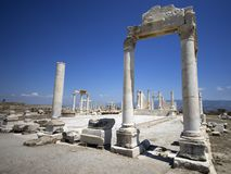 Руины Laodicea, последняя церковь Relevation, Denizli/Турции стоковое изображение rf