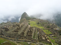 Руины Machu Picchu в Перу стоковое изображение rf