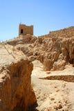 Руины Masada, Израиль Стоковые Изображения RF