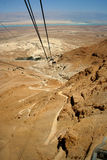 Руины Masada, Израиль Стоковое Изображение RF