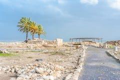 Руины Megiddo телефона Стоковое Изображение