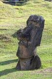 Руины Moai в острове пасхи, Чили Стоковое Фото