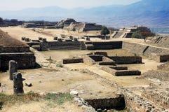 руины monte alban Мексики Стоковая Фотография