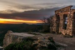 Руины Mussara старого дома камня стоковые изображения rf