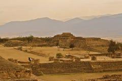 руины oaxaca monte alban Мексики Стоковая Фотография