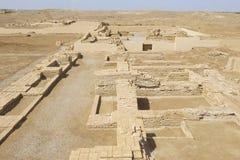 Руины Otrar (Utrar или Farab), центрального азиатского город-привидения, южной провинции Казахстана, Казахстана Стоковые Фотографии RF