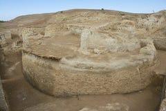 Руины Otrar (Utrar или Farab), центрального азиатского город-привидения, южной провинции Казахстана, Казахстана Стоковое Изображение