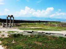 Руины Pamukkale стоковое изображение rf