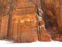 руины petra гор Стоковая Фотография