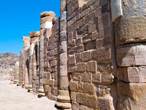 руины petra Иордана римские Стоковое Изображение