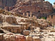 руины petra Иордана римские Стоковая Фотография RF