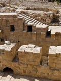 руины petra Иордана римские Стоковая Фотография