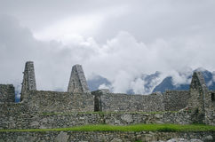 руины picchu machu Стоковые Изображения RF