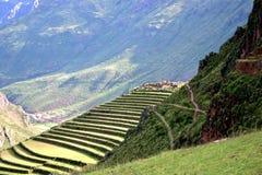 Руины Pisac Перу Стоковая Фотография