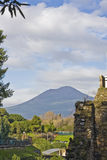 руины pompeii ландшафта Стоковые Изображения RF
