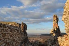 Руины, rasnov крепости Стоковое фото RF
