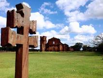 Руины São Мигеля - к югу от Бразилии стоковое изображение rf
