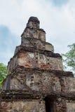 Руины Satmahal Prasada в Polonnaruwa Стоковое Фото
