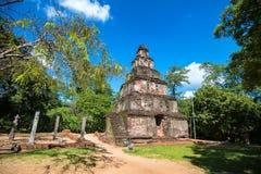 Руины Satmahal Prasada в Polonnaruwa Стоковые Изображения
