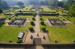 Руины, Shaniwar Wada Историческое городище построенное в 1732 и месте из Peshwas до 1818 Стоковое Изображение RF