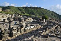 Руины Susita, Голанские высоты, гиппопотамы Стоковая Фотография
