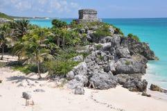 Руины Tulum майяские Стоковые Фото