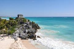 Руины Tulum майяские Стоковая Фотография