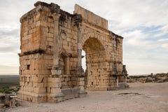 Руины Volubilis, Marocco стоковые изображения rf
