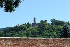 руины Windeck и Wachenburg, Weinheim, Германия стоковое фото