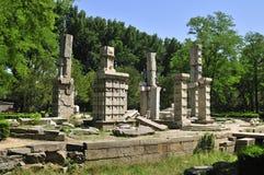 Руины Yuanmingyuan в Китае Стоковое фото RF
