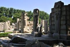 Руины Yuanmingyuan в Китае Стоковое Изображение