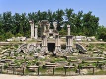 Руины Yuanmingyuan в Китае Стоковые Изображения RF