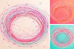 рука абстрактных предпосылок цветастая нарисованная иллюстрация вектора