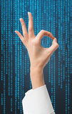 Рука давая одобренный знак Стоковое Изображение RF