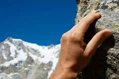 рука альпиниста Стоковые Фотографии RF