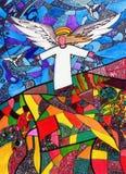 рука ангела нарисованная принципиальной схемой Стоковое Фото