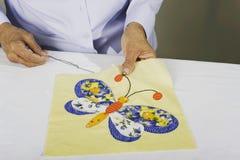 рука бабочки applique Стоковое Изображение