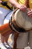 рука барабанчика djembe Стоковые Изображения