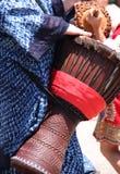 рука барабанчика djembe Стоковая Фотография RF
