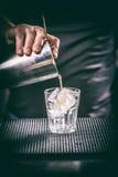 Рука бармена с встряхиванием Стоковые Фотографии RF