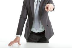рука бизнесмена указывая s Стоковое Изображение