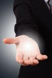 Рука бизнес-леди для технологии стоковое изображение rf