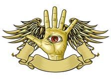 Рука бога Стоковое Изображение